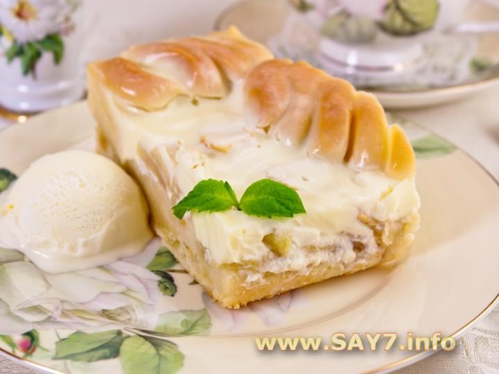 Пирог с яблоками со сметаной рецепт