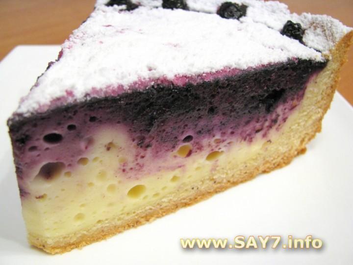 творожный пирог с черникой простой рецепт