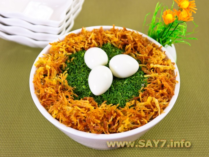 салат гнездо рецепт