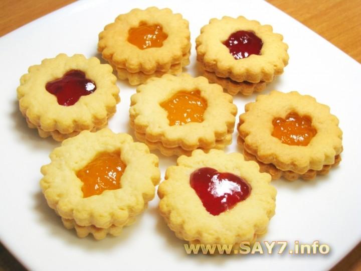 кулинарные рецепты творожное печенье с джемом