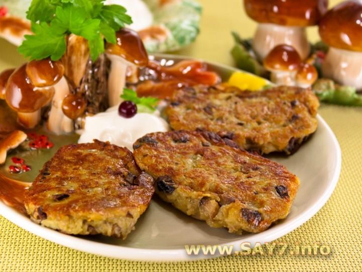 Горячие блюда с грибами  рецепты