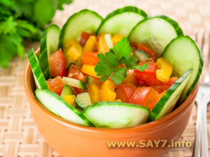 Салат овощной рецепт с фото очень вкусный