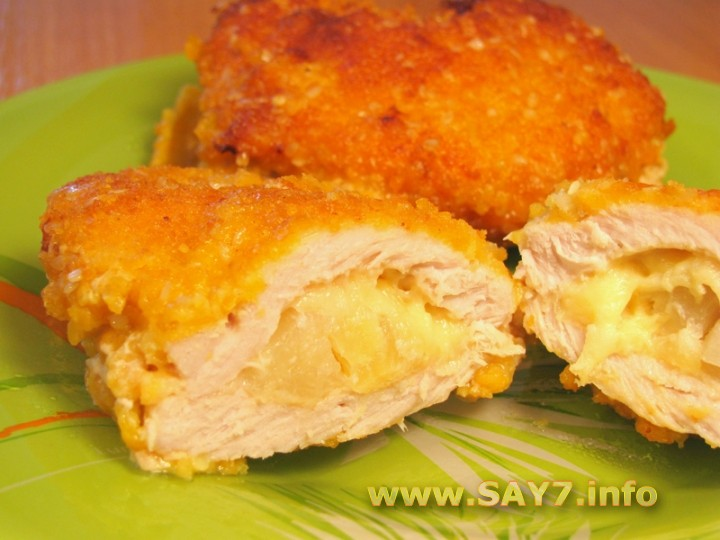 Салат с грибами и ананасами - рецепты с фото на vpuzo.com
