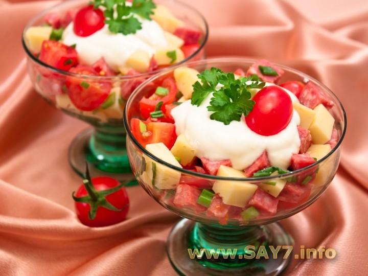 Салаты с помидорами огурцами и сыром рецепты с простые и вкусные 186