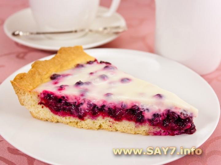 Открытый пирог с малиной и сметаной рецепт 141