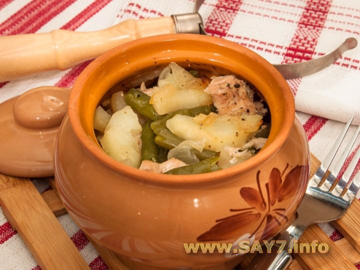 рецепт свинина с картошкой в горшочках