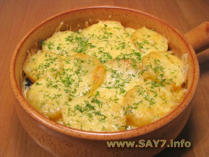 Запеканка с грибами и картофелем в духовке