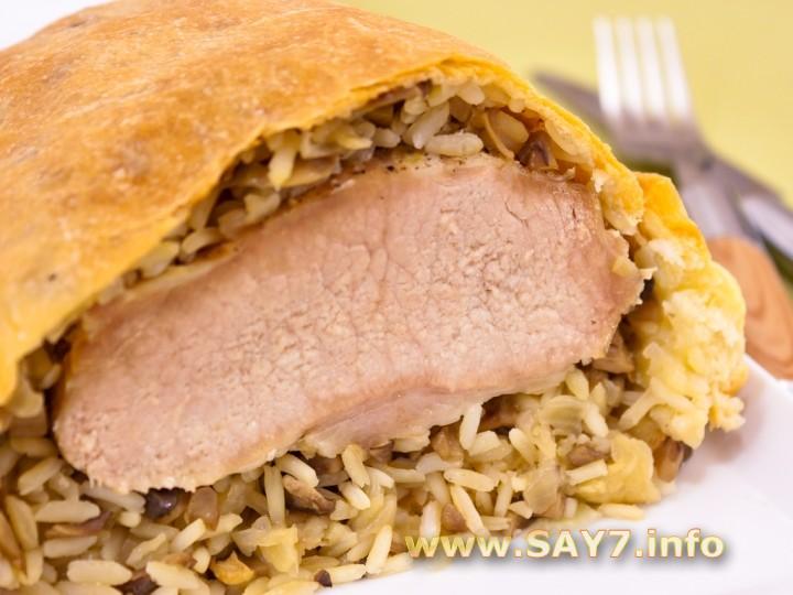 Мясо в тесте в духовке рецепт с фото свинина — 1