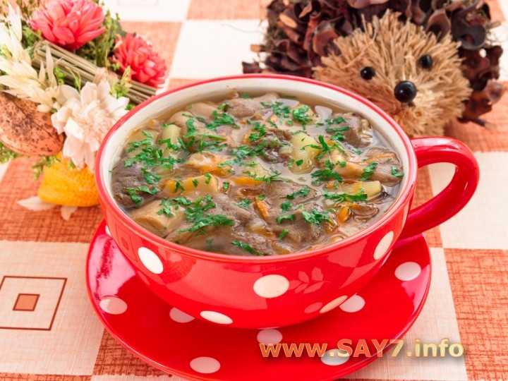 Грибной суп из синеножек