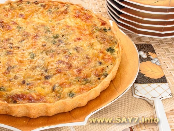 пирог с мясом картошкой и грибами в духовке пошаговый рецепт с фото