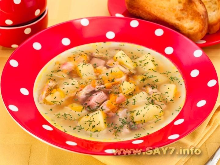рецепт горохового супа с копченностями