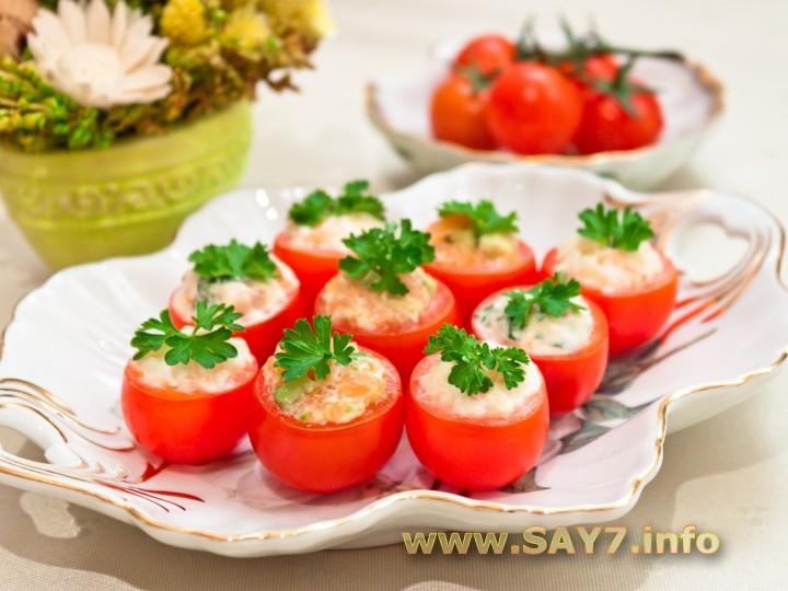 фаршированные помидоры закуска рецепт с фото