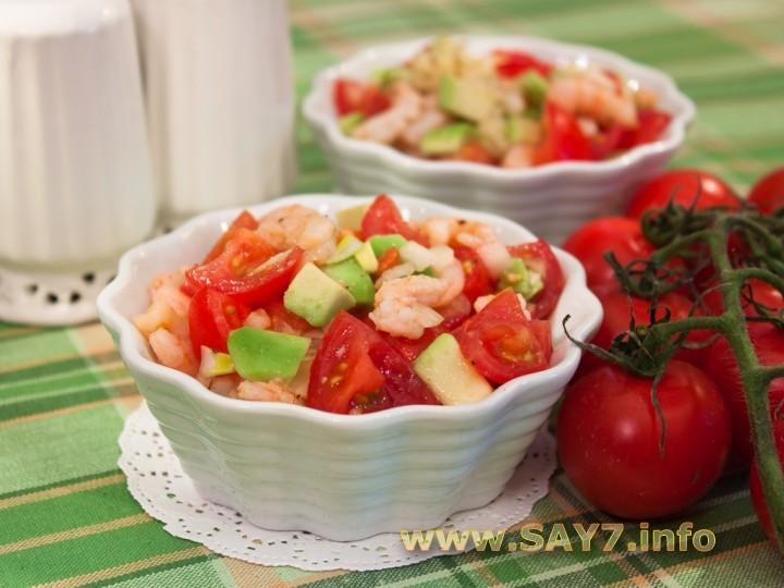 7say салат с креветками