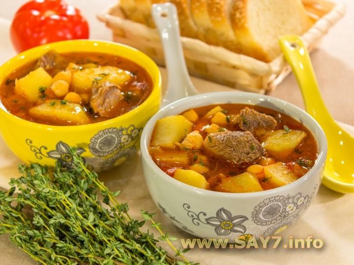 Суп с нутом и бараниной рецепт