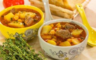 Рецепт: Суп с нутом и бараниной