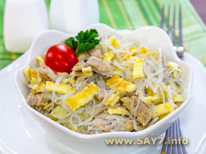 Простой салат со свининой рецепты с