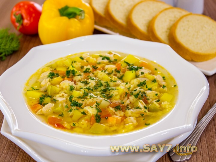 1128 0120j15 5734 6hi Рецепт: Суп с овощами, макаронами и куриным филе