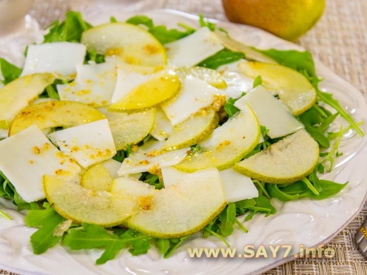 1169 0175a2z 7448 6hi Рецепт: Салат с грушей, козьим сыром и рукколой