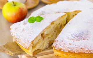Яблочный пирог на сметанном тесте