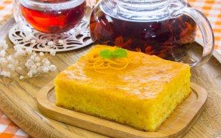 Морковно-апельсиновый пирог с сиропом