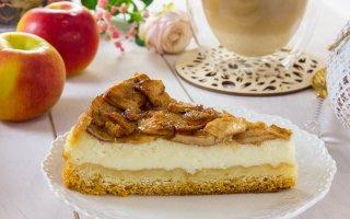 Пирог с яблоками (а-ля чизкейк)