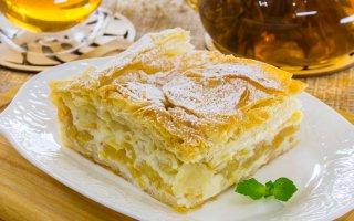 Яблочный пирог с тестом фило