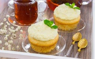 Кокосовые кексы с кокосовым кремом