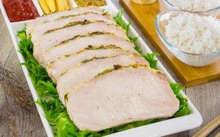 Рецепт: Свинина, шприцованная сливками, запеченная под сыром